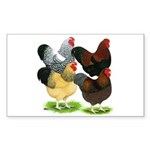 Wyandotte Rooster Assortment Sticker (Rectangle 10
