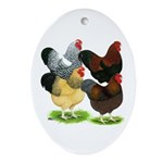 Wyandotte Rooster Assortment Ornament (Oval)