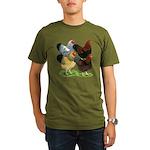 Wyandotte Rooster Assortment Organic Men's T-Shirt