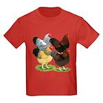 Wyandotte Rooster Assortment Kids Dark T-Shirt