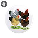 "Wyandotte Rooster Assortment 3.5"" Button (10"