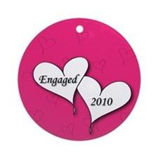 Pink AH Engaged 2010 Ornament (Round)