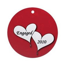 Red AH Engaged 2010 Ornament (Round)