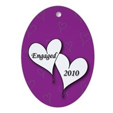 Purple AH Engaged 2010 Ornament (Oval)