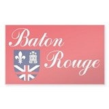 Baton Rouge Flag Rectangle Decal