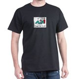Time To Play- Golf Cart Black T-Shirt