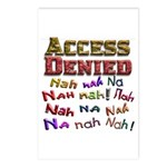 Access Denied, Nah na nah na Postcards (Package of