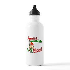 Christmas Elves Water Bottle