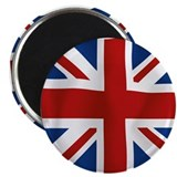 "Union Jack flying flag 2.25"" Magnet (100 pack)"