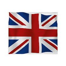 Union Jack flying flag Throw Blanket