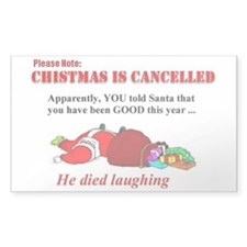 funny x mas Stickers (Rectangle 50 pk)