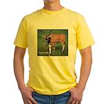 Eland Antelope Photo (Front) Yellow T-Shirt