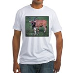 Eland Antelope Photo (Front) Fitted T-Shirt