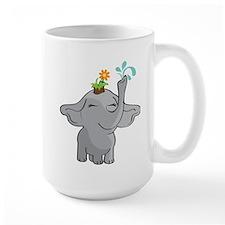 Elephant gardener Large Mug