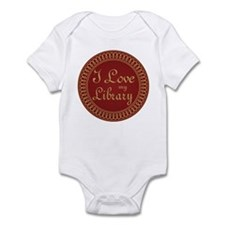Ornate I Love My Library Infant Bodysuit