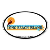 Long Beach Island NJ - Beach Design Decal