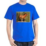 Mongolian Wild Horse Photo (Front) Black T-Shirt