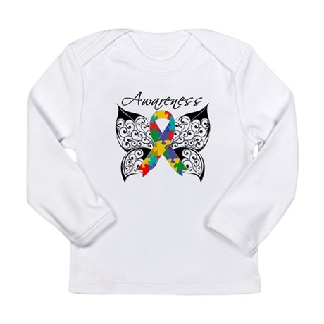 Awareness Butterfly Autism Long Sleeve Infant T-Sh