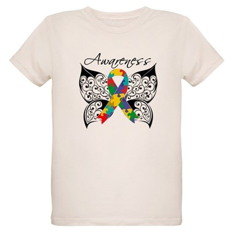 Awareness Butterfly Autism Organic Kids T-Shirt