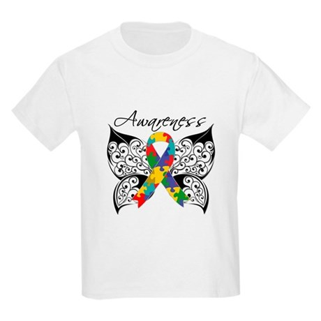 Awareness Butterfly Autism Kids Light T-Shirt