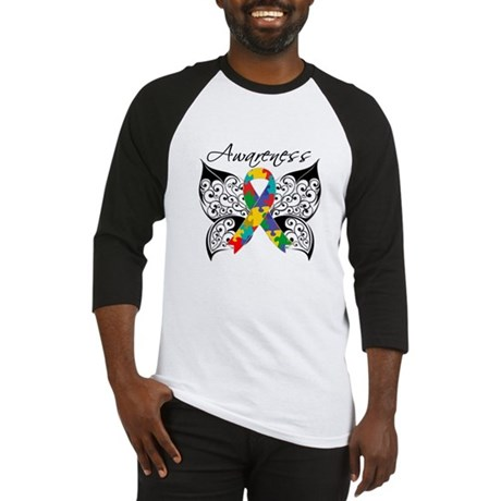 Awareness Butterfly Autism Baseball Jersey