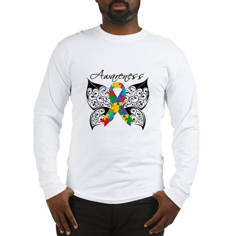 Awareness Butterfly Autism Long Sleeve T-Shirt