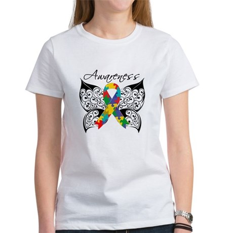 Awareness Butterfly Autism Women's T-Shirt