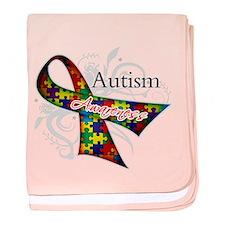 Autism Awareness Ribbon baby blanket