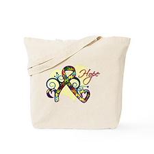 Hope Ribbon - Autism Tote Bag