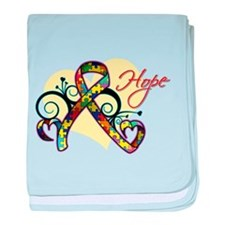 Hope Ribbon - Autism baby blanket