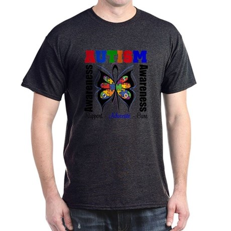 Butterfly Awareness Autism Dark T-Shirt