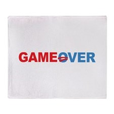 Anti Obama Game Over Throw Blanket
