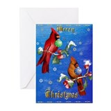 Two Christmas Birds Greeting Cards (Pk of 20)