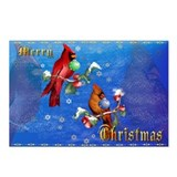 Two Christmas Birds Postcards (Package of 8)