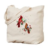 Two Christmas Birds Tote Bag