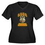 S.F.F.D. Women's Plus Size V-Neck Dark T-Shirt