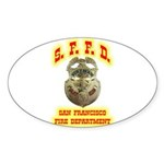 S.F.F.D. Sticker (Oval 10 pk)