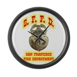 S.F.F.D. Large Wall Clock