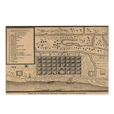 Old New Orleans MAp Postcards (Package of 8)
