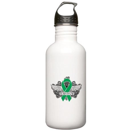 Survivor - Liver Cancer Stainless Water Bottle 1.0