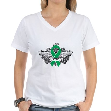 Survivor - Liver Cancer Women's V-Neck T-Shirt