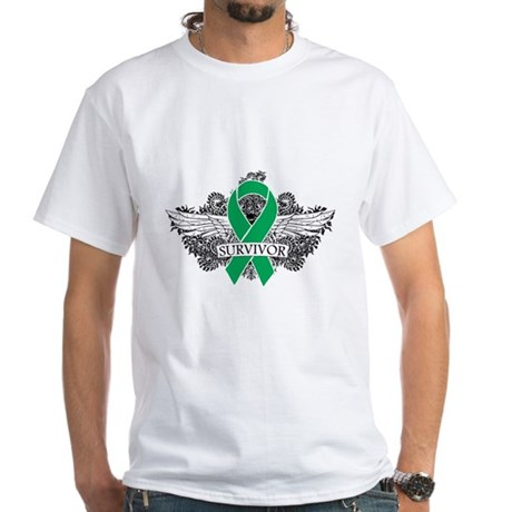 Survivor - Liver Cancer White T-Shirt