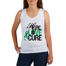 Hope Love Cure Liver Cancer Women's Tank Top
