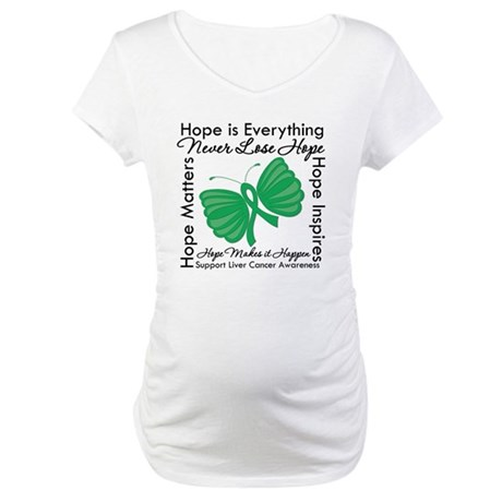 Hope is Everything Liver Canc Maternity T-Shirt