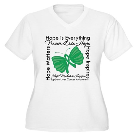 Hope is Everything Liver Canc Women's Plus Size V-