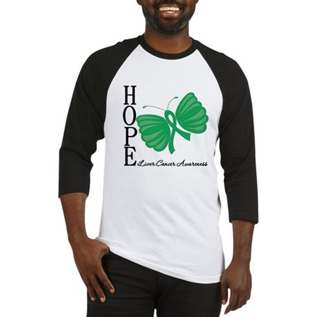 Hope Butterfly Liver Cancer Baseball Jersey