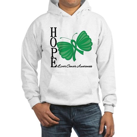 Hope Butterfly Liver Cancer Hooded Sweatshirt