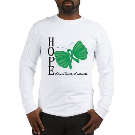 Hope Butterfly Liver Cancer Long Sleeve T-Shirt