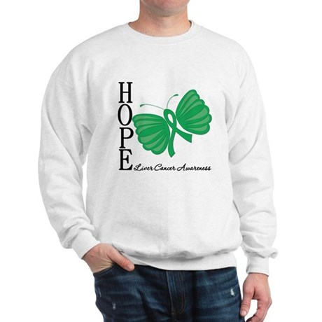 Hope Butterfly Liver Cancer Sweatshirt