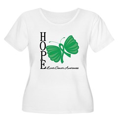 Hope Butterfly Liver Cancer Women's Plus Size Scoo